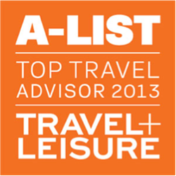 GLOBEBLEU AWARDED TRAVEL &  LEISURE - A-LIST - 2013